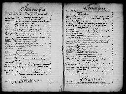 Liste chronologique des actes pour la période du 2 janvier au 31 décembre 1723
