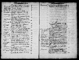 Liste chronologique des actes pour la période du 2 janvier au 31 décembre 1739