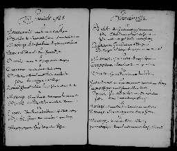 Liste chronologique des actes pour la période du 3 janvier au 31 décembre 1735