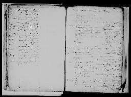 Liste chronologique des actes pour la période de janvier à décembre 1603