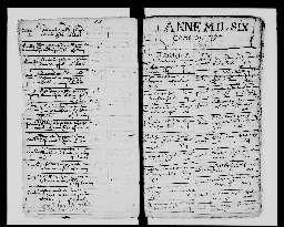 Liste chronologique des actes pour la période de janvier à décembre 1617