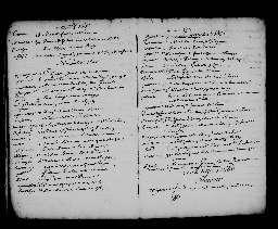 Liste chronologique des actes pour la période du 4 janvier au 31 décembre 1688
