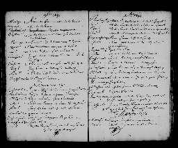 Liste chronologique des actes pour la période du 2 janvier au 31 décembre 1692