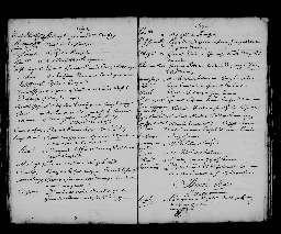 Liste chronologique des actes pour la période du 2 janvier au 31 décembre 1693