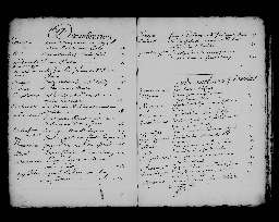 Liste chronologique des actes pour la période du 2 janvier au 30 décembre 1704