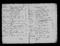 Liste chronologique des actes pour la période du 2 janvier au 19 août 1707