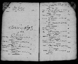 Liste chronologique des actes pour la période du 1er janvier au 31 décembre 1673