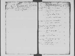 1 septembre - 31 décembre 1720