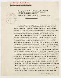 Témoignage de Marcelle Bidault, alias Élisabeth ou Agnès, recueilli par Marie Granet