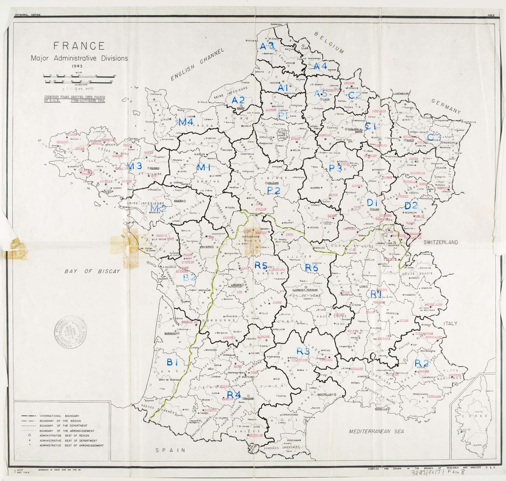Map Of Drop Zones In France.The French Resistance Axis History Forum