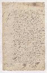 Bail par André Guyet, médecin, à Florin Périer, conseiller à la Cour des aides de Clermont-Ferrand, beau-frère de Blaise Pascal, d'une maison sur le fossé entre les portes Saint-Marcel et Saint-Victor.