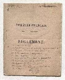 Ordonnance du roi Louis XVIII portant règlement du Théâtre-Français.