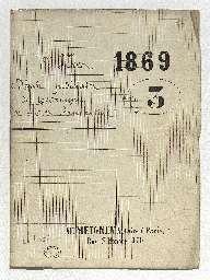 Dépôt judiciaire du testament olographe du 1er juillet 1863, d'Alphonse de Lamartine, homme de lettres demeurant au 135 boulevard de l'Empereur, décédé le 28 février 1869.